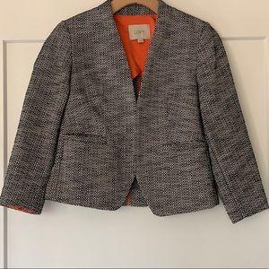 Ann Taylor LOFT cropped tweed blazer | Size 0P